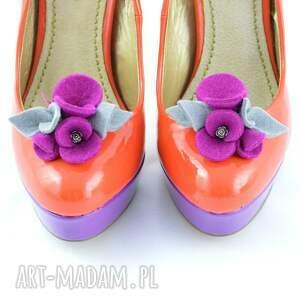 wyjątkowe ozdoby do butów filc klipsy - filcowe przypinki