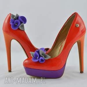 filc ozdoby do butów klipsy butów- filcowe przypinki