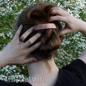 miedziana ozdoby do butów piasek - klamra do włosów