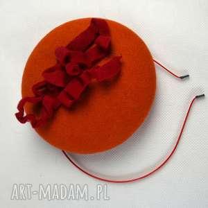 ozdoby do butów fascynator pomarańćzko
