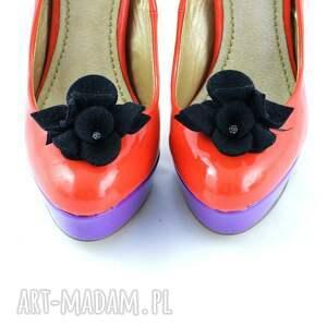 gustowne ozdoby do butów filc przypinki butów-