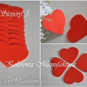 buty ozdoby do butów czerwone stopery antypoślizgowe ślub