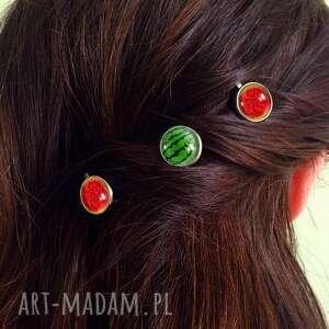 gustowne ozdoby do włosów arbuz - 3 wsuwki