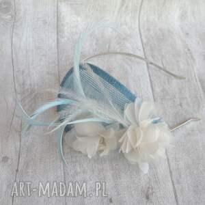 ozdoby do włosów fascynator błękitny anioł