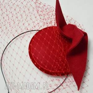 ozdoby do włosów filc czerwona dama