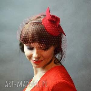 czerwień ozdoby do włosów czerwona dama