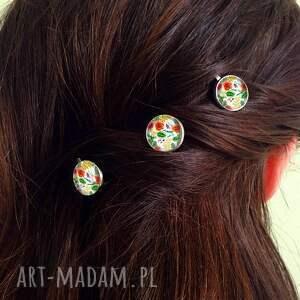 ozdoby do włosów egzotyczne kwiaty - 3 wsuwki