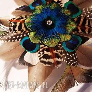 pióra fascynator z piór - kolorowe