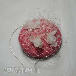 różowe ozdoby do włosów jedwab filemonka z jedwabiem