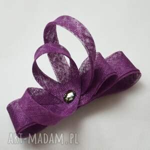 intrygujące ozdoby do włosów fiolet fioletowy zawijas