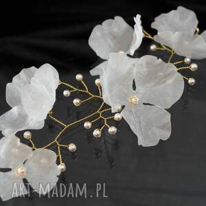 ozdoby do włosów ozdoba gałązka z kwiatami