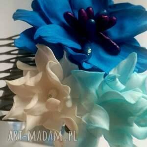 sesja ozdoby do włosów grzebyk kwiatowy ślub