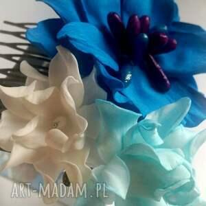 ozdoby do włosów kwiaty grzebyk kwiatowy sesja ślub