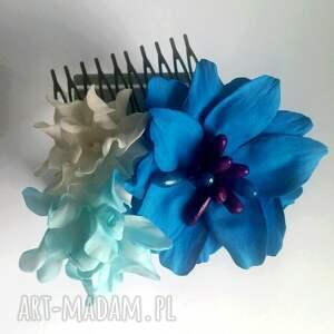 ozdoby do włosów sesja grzebyk kwiatowy ślub