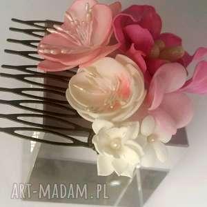 ozdoby do włosów ślub grzebyk kwiatowy ślubny sesja
