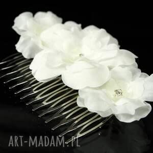 ozdoba ozdoby do włosów grzebyk z jedwabnymi kwiatami