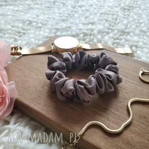 ozdoby do włosów czekolada gumka jedwabna czekoladowa