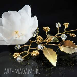 kryształ jedwab w złotej oprawie
