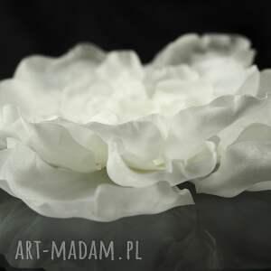 ozdoby do włosów perła jedwabny kwiat z perłą