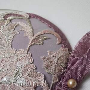 różowe ozdoby do włosów koronka koronkowa dama