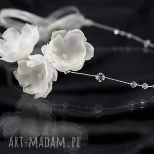 kwiaty ozdoby do włosów kryształowa opaska