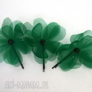 ozdoby do włosów: Kwiat zielony