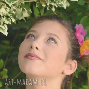 ozdoby do włosów: Kwiat zielony jedwab