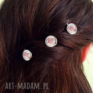 autorskie ozdoby do włosów wsuwki kwiatowa kompozycja - 3