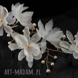 ozdoby do włosów perły kwitnąca gałązka