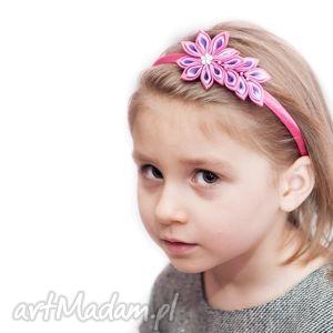 różowe ozdoby do włosów opaski opaska dla dziewczynki