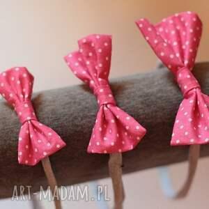 ozdoby do włosów tradycyjna opaska lady z kokardką - pink