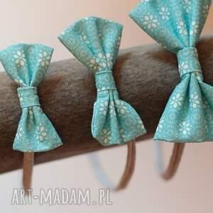 ozdoby do włosów tradycyjna opaska lady z kokardką - blue
