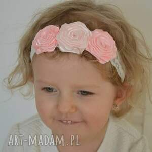 białe ozdoby do włosów ozdoba opaska na gumce dla dziewczynki