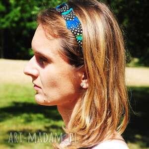 ozdoby do włosów pawie opaska z naturalnych piór - magia