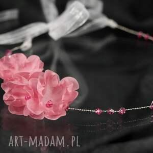 ozdoby do włosów opaska z różowymi