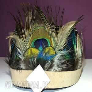 ozdoby do włosów pióropusz z naturalnych