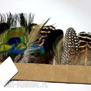 ozdoby do włosów pióra pióropusz z naturalnych