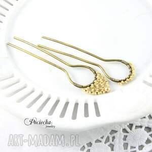 ręcznie zrobione ozdoby do włosów retro pearl - szpilki