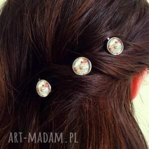 niepowtarzalne ozdoby do włosów retro róże - 3 wsuwki