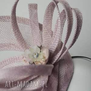 ozdoby do włosów różowy toczek