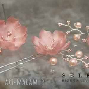 ozdoby do włosów jedwab ślubne kwiaty