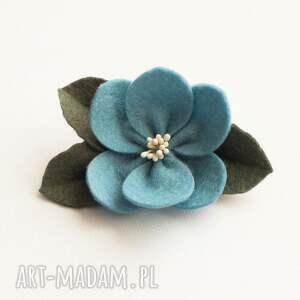 Momilio Art ozdoby do włosów: Spinka do kwiatek jesienny - filc