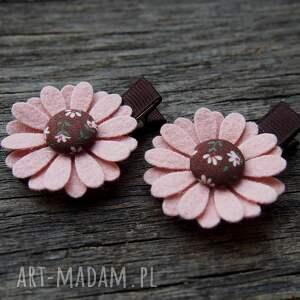 handmade ozdoby do włosów kwiatek spinki do kwiatki kolekcja