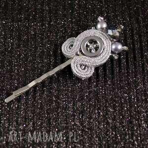 srebrne ozdoby do włosów spinka srebrna elegancka