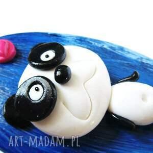 hand-made ozdoby do włosów szczotka panda