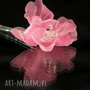 jedwab ozdoby do włosów w kolorze różu