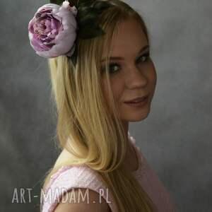 fioletowe ozdoby do włosów wiosna wiosenny kwiat