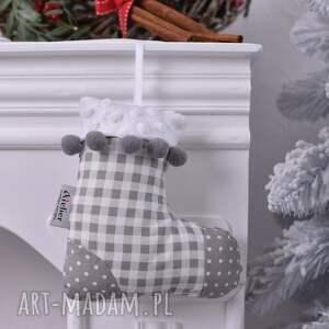 pomysł na prezent - Handmade skarpeta-świąteczna