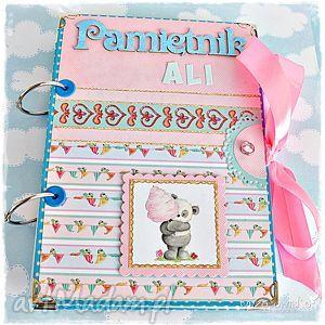 pamiętnik dla dziecka personalizacja, pamiętnik, notatnik, miś, dzień