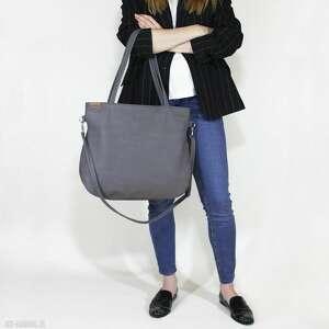 hand-made pacco bag - torba na ramię z długim regulowanym, odpinanym paskiem